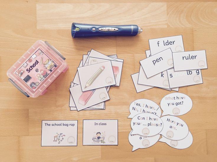 materialwiese: Themenbox school things für den Englischunterricht der Grundschule