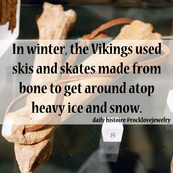 Winter Viking facts for December!  Though I don't recommend bringing bones to your local skate rink...