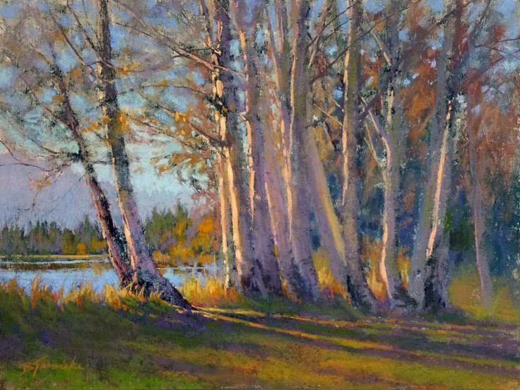 "Barbara Courtney Jaenicke   ""Last Glimpse of Autumn"" pastel, 16x20"