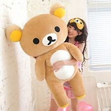Cute San-x Rilakkuma Relax Bear Soft Giant 80cm Stuffed Pillow Plush Doll Toy
