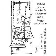 Woodware - CHRISTMAS BELLS - silikonová razítka