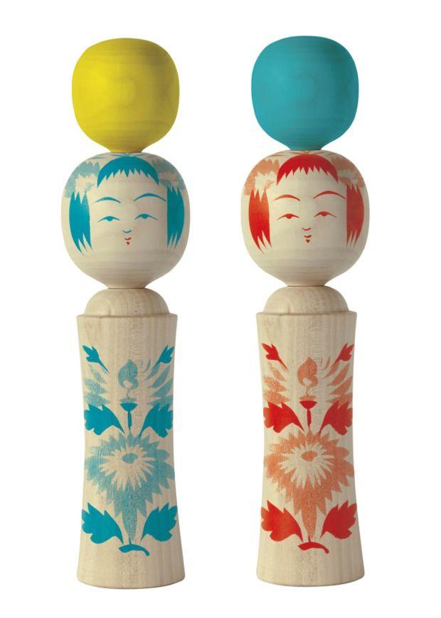 以前コロカルでもご紹介したプロジェクト「DENTO-HOUSE」は、 日本が誇る伝統工芸品を、日本で活躍するトップ・レベルの グラフィック・デザインとむすび、アートピースとして紹介するプロジェクト。作品は服部一成さんによるこけし「あたまのうえ レモン/ブルー」。 お値段は税込¥7,128。 これらのこけしや漆のテーブルウェアなど購入しやすい作品から 見応えのある大屏風まで、バリエーション豊かな作品が揃います。