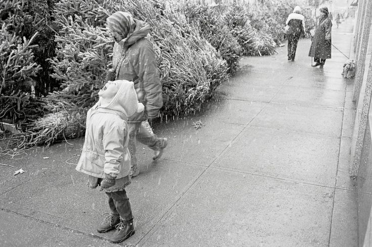 First Snow for Child | New York or First Christmas on the UES | Dave Beckerman