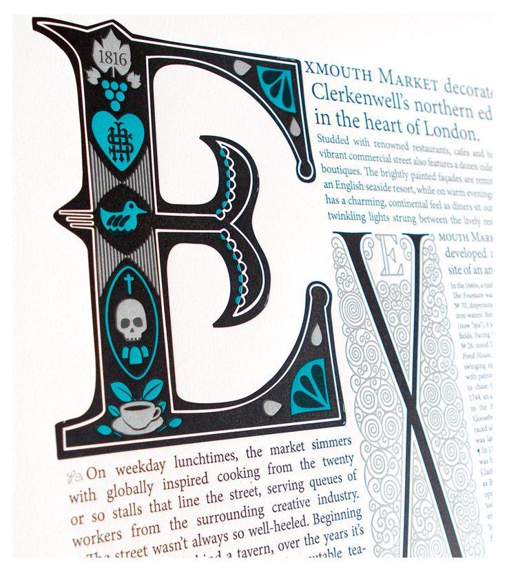 Exmouth Market Letterpress Print