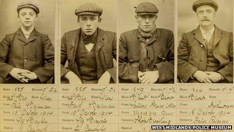 Some of the Peaky Blinders that terrorised early 20th. century Birmingham.