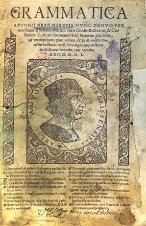 Hoy se cumplen 300 años desde la creación de la Real Academia Española. Por ello recordamos a ANTONIO DE NEBRIJA, pionero en la redacción de una gramática en 1492 y un diccionario latín-español ese mismo año y el español-latín hacia 1494, con relativa anticipación dentro del ámbito de las llamadas lenguas vulgares. Fue además historiador, pedagogo, gramático, astrónomo y poeta.