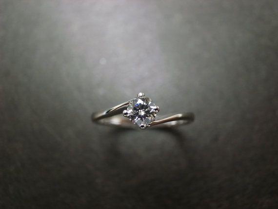 Custom Made  Classic Engagement Ring in Platinum by honngaijewelry, $620.00