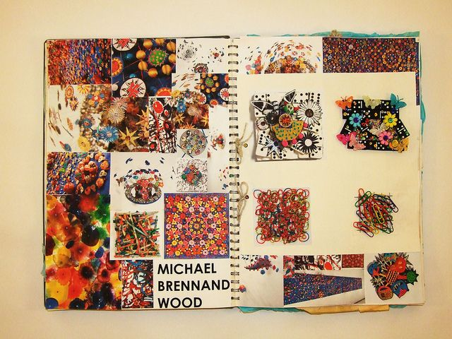 Textiles - Sketchbook Page (Dec/10) by Karla Jo Sikora's, via Flickr