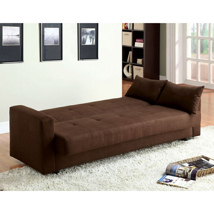 Recliner Sofa Furniture of America Cozy Microfiber Futon Sofa Bed with Storage by Furniture of America Microfiber sofa Futon sofa bed and Futon sofa