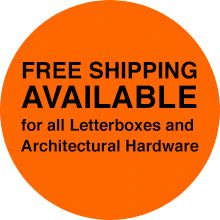 Free shipping now available for all our Letterboxes and Architectural Hardware nationwide (Australia).  Visit the Robert Plumb website for more information.  www.robertplumb.com.au