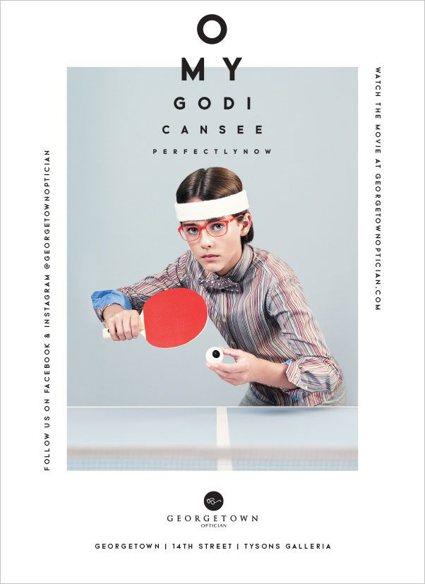 Poster by Design Army, inspired by Wes Anderson | Georgetown Optician_2