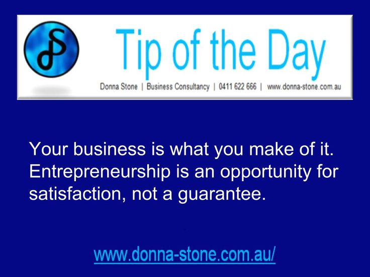 Donna Stone Business Coaching Business Tip of the Day