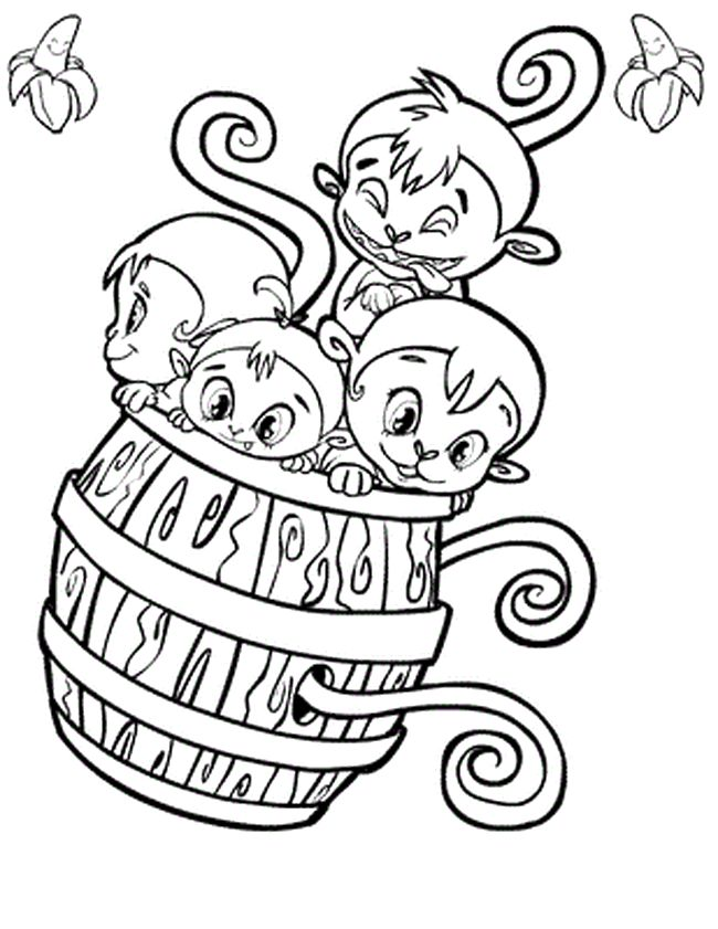 Barrel Of Monkeys Coloring SheetsOfPrintable Coloring Pages Free