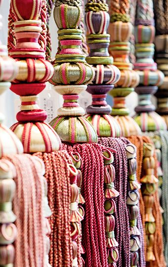 PASSEMENTERIE ~ French decorative tassels in every color. A great souvenir to bring back from Paris.