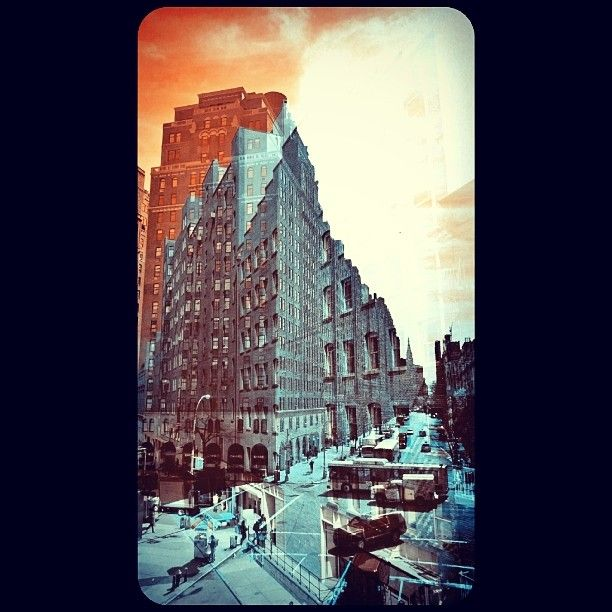 My vision of New York / artwork by ydtn / Photo and PhotoShop by me #meatpackingdistrict #newyork #arty #art #enjoy #architecture #building #immeuble #vintage #ilovenewyork