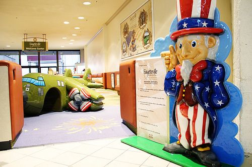 Uncle Sam is ready to greet you when you get to the new play area in the Cross Creek Mall (by the JC Penney entrance!) #FayettevilleNC