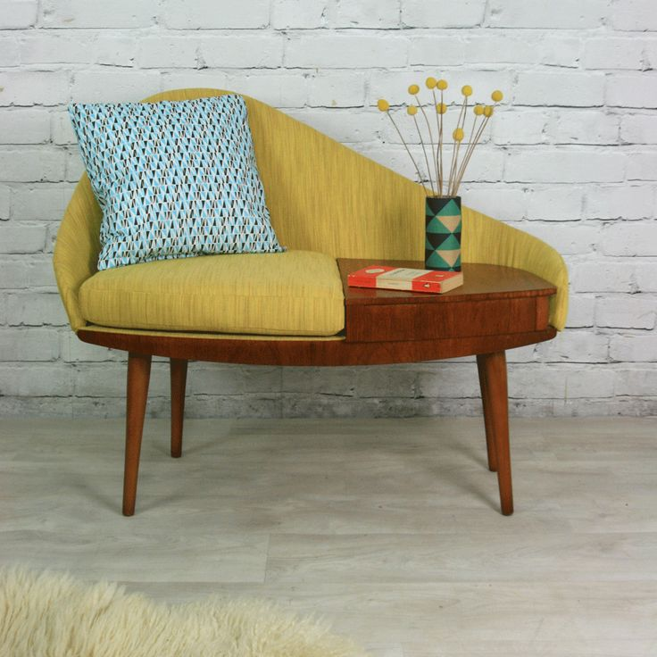 Vintage 1960s Telephone Seat - Chippy Heath. Very hard to source.