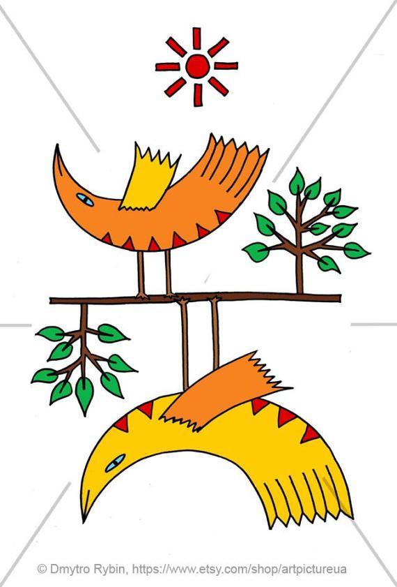 Солнечные птицы. Картина от ArtpictureUA на Etsy