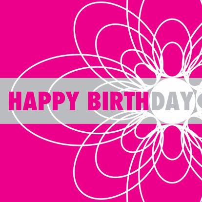 Happy birthday bloem roze - Verjaardagskaarten - Kaartje2go