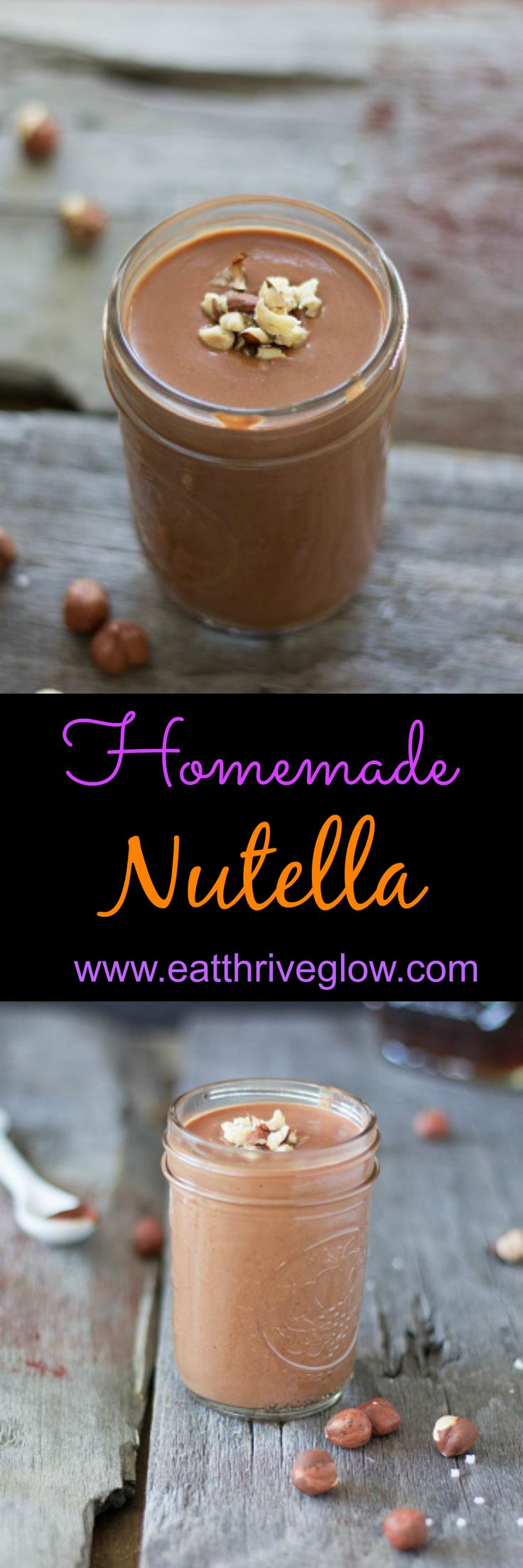 Easy, delicious, homemade vegan nutella recipe. Made with hazelnuts, raw cacao, coconut milk, maple syrup, and sea salt. Chocolate heaven!
