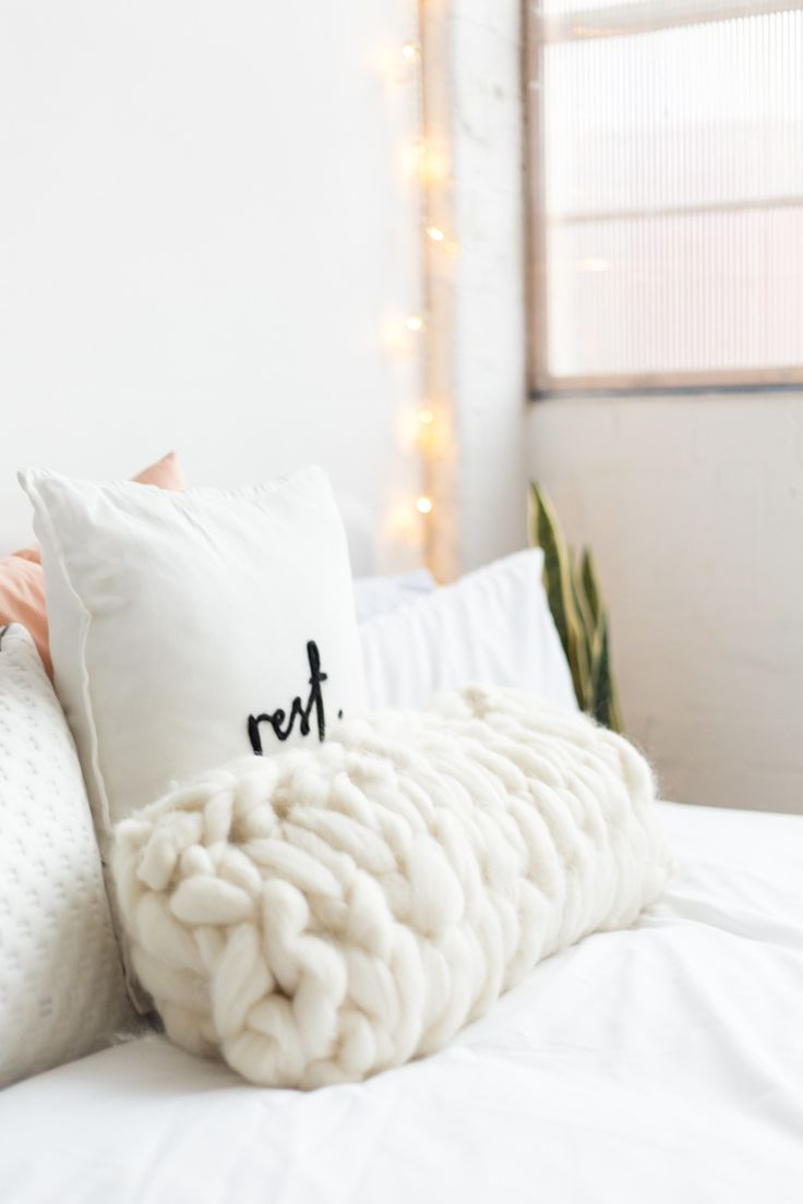 DIY Arm Knitted Big Wool Cushion Cover