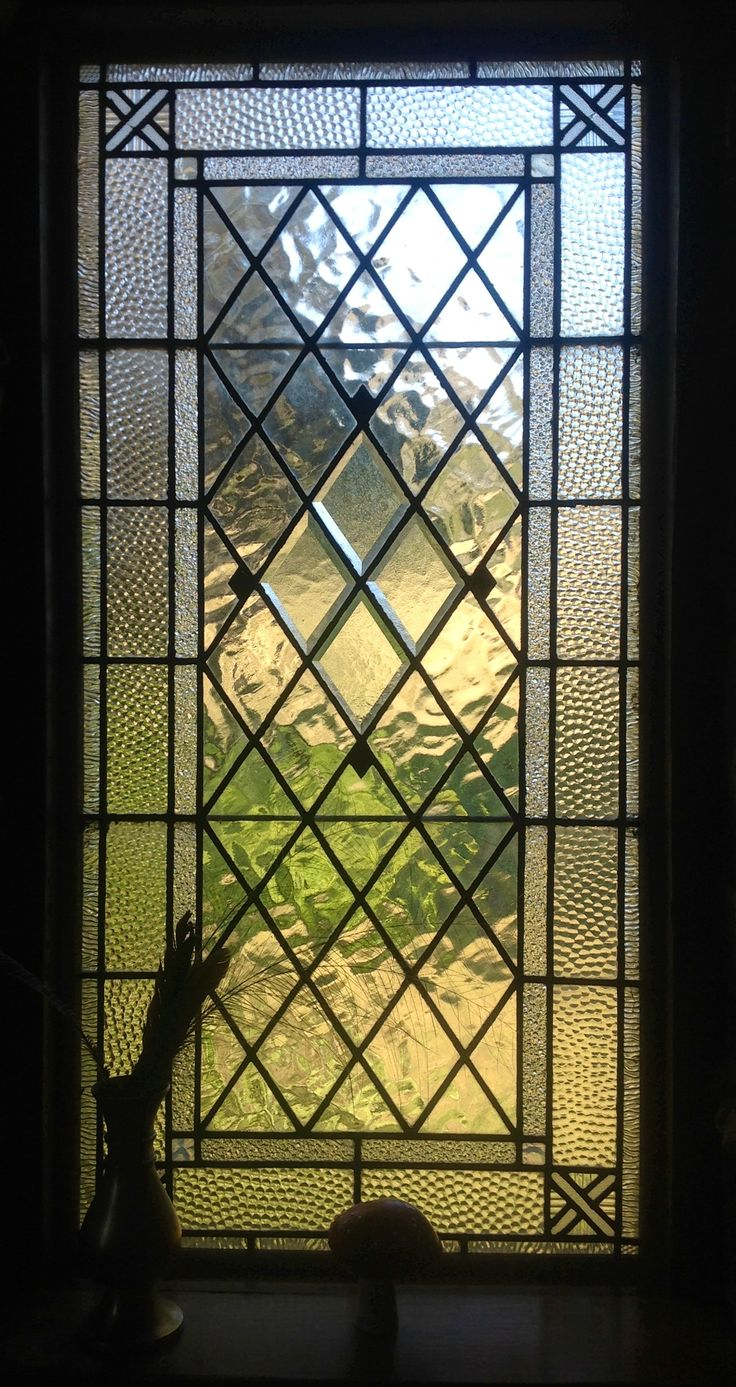 25 best ideas about leaded glass windows on pinterest for Victorian stained glass window film
