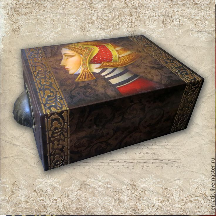 Купить Шкатулка-короб Золотой узор - разноцветный, шкатулка, шкатулка для украшений, шкатулка-короб: