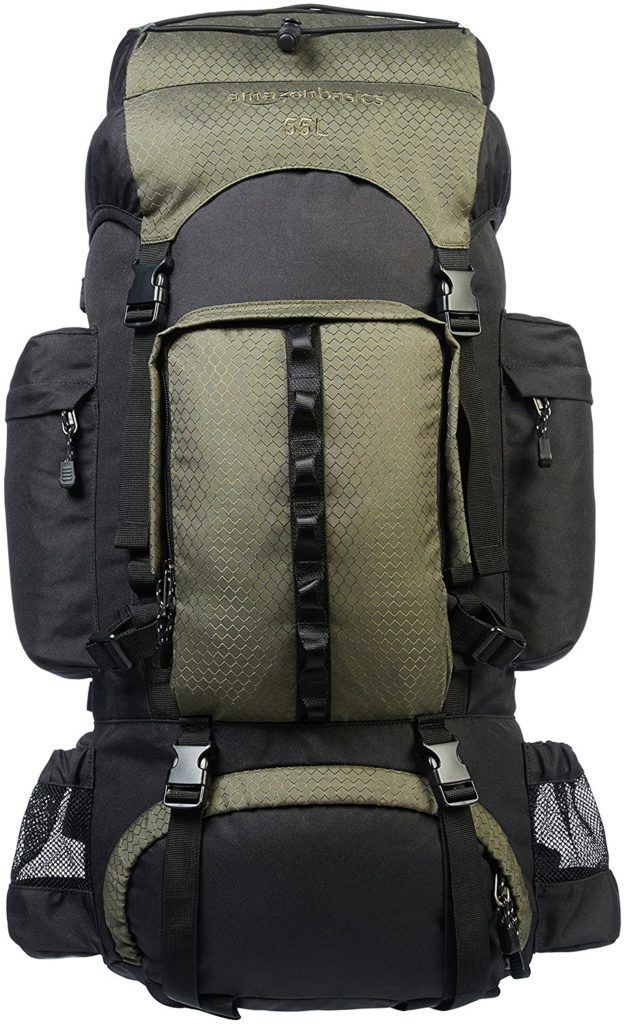 AmazonBasics Internal Frame Hiking Backpack with Rainfly in 2019 ... 80eac15253