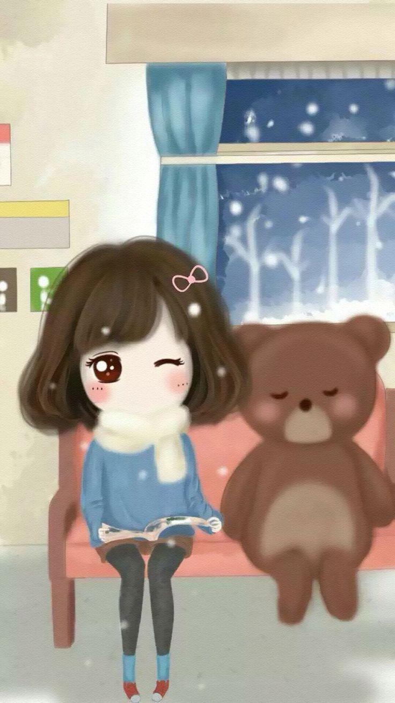 Pin by thao tran on girlies cute love cartoons kawaii