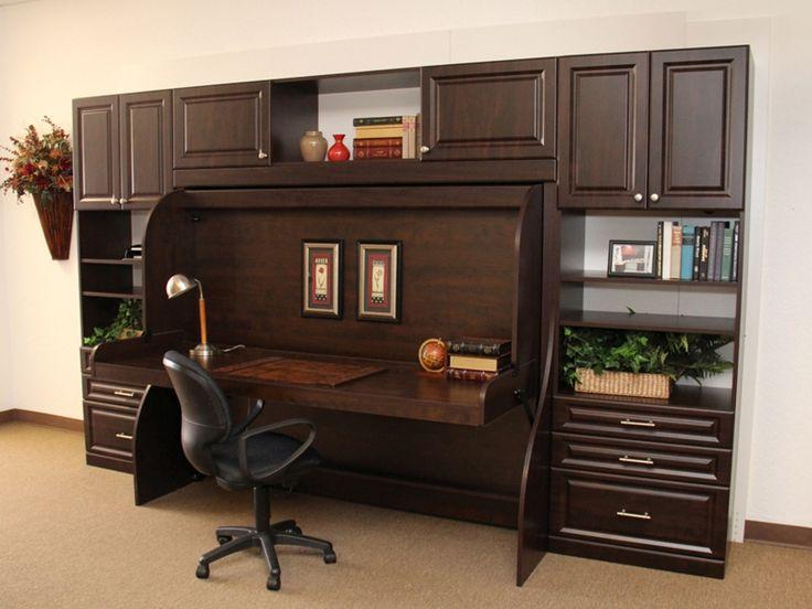 17 best images about home bed hidden bed on pinterest secret storage murphy bed with desk. Black Bedroom Furniture Sets. Home Design Ideas