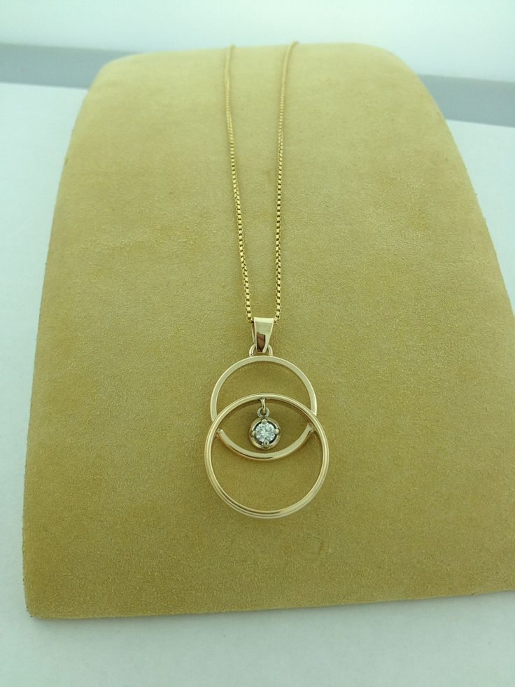 This is a necklace we made for a customer! We combined her wedding band and her…