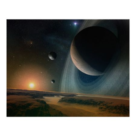 Planet scape - space art print