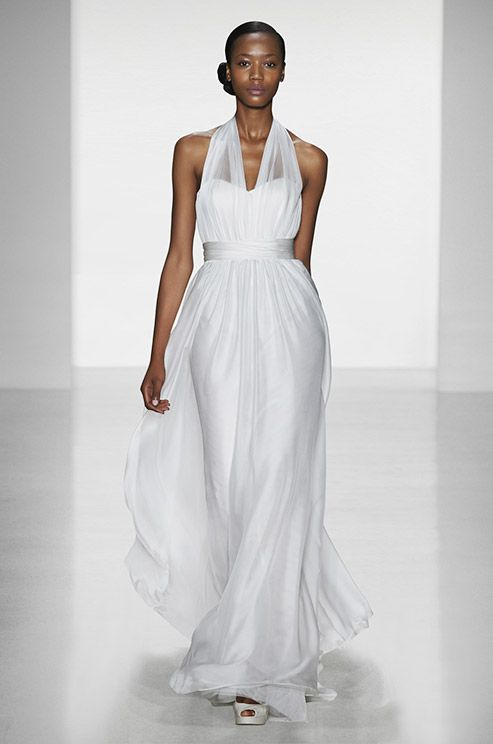 This Christos fall 2014 wedding dress will be perfect for a relax beach wedding.