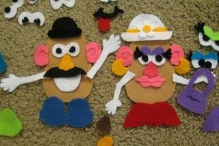 Make a felt Mr. Potato Head with accessories! #OperationChristmasChild #DIY