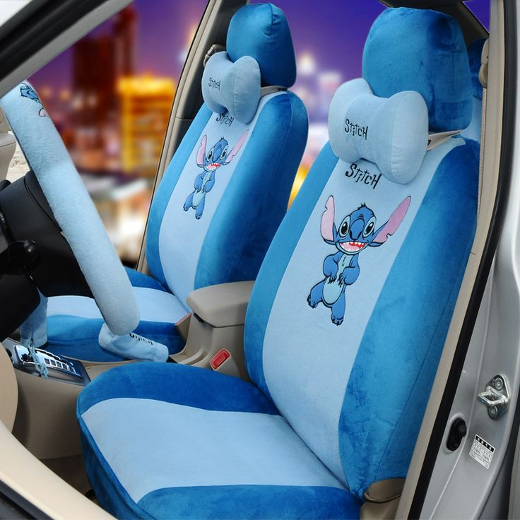 car styling  car covers  Stitch cartoon car seat covers summerscushion cover four seasons