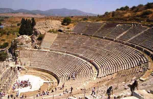 Ephesus, Turkey blew me away.  What an advanced civilization.  This outdoor theater is where Paul addressed the Ephesians.