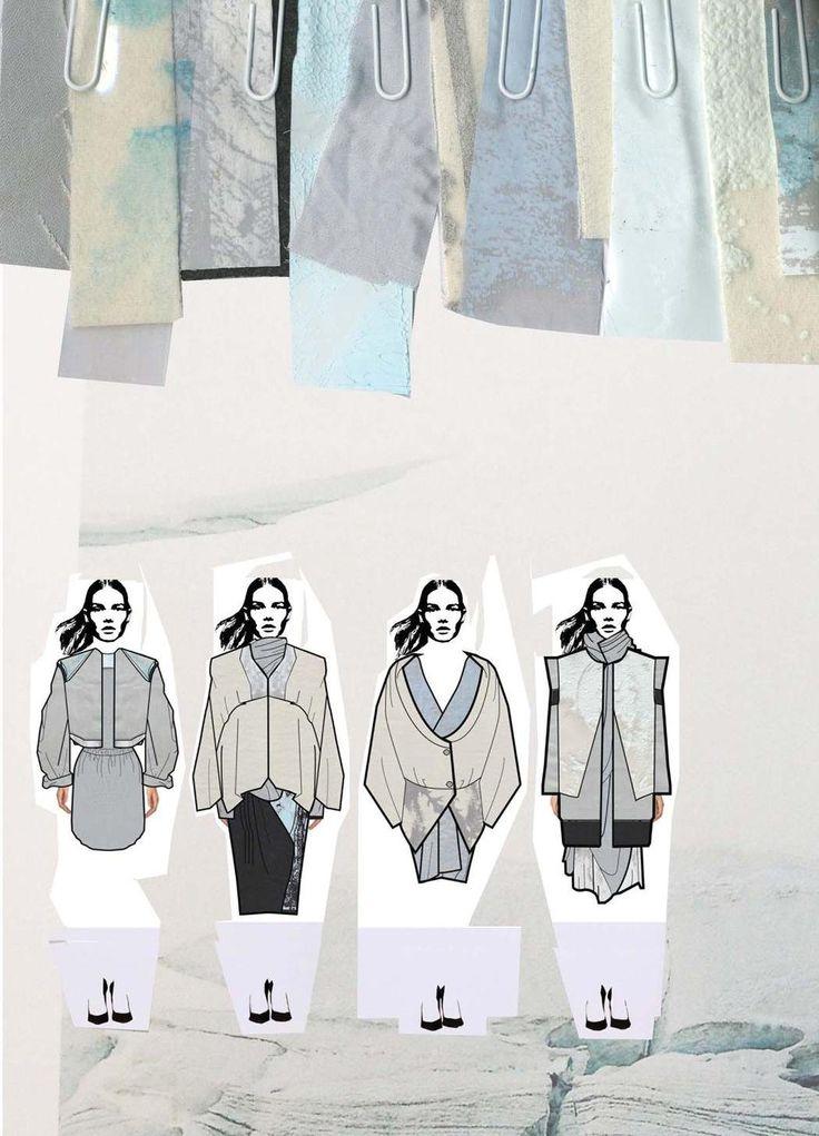 Fashion Sketchbook - fashion illustrations & textile samples; fashion portfolio layout // Chloe Bayles