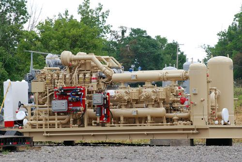 natural gas compressor. These push the natural gas on down the pipe line.