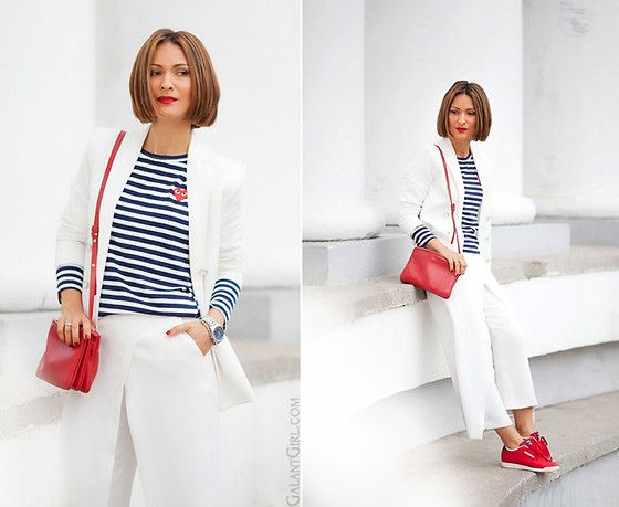 Galant-Girl Ellena - Reebok Sneakers, Céline Bag - White Suit. В Белом!