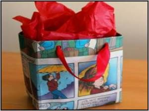DIY Gift Bag, made out of reused materials