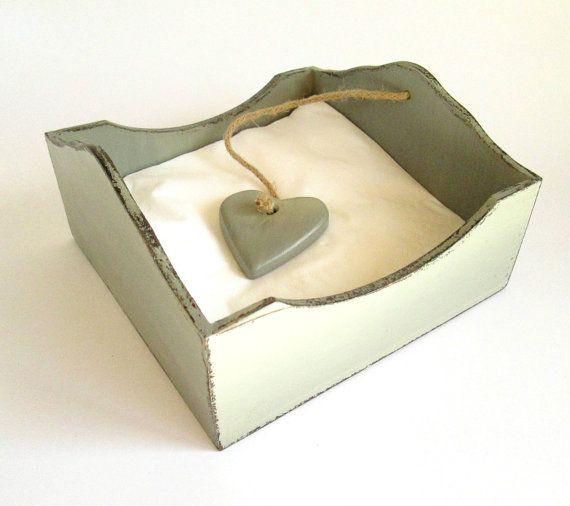 Rustic Wooden Napkin / Serviette Holder in by chocberryavenue, $30.00