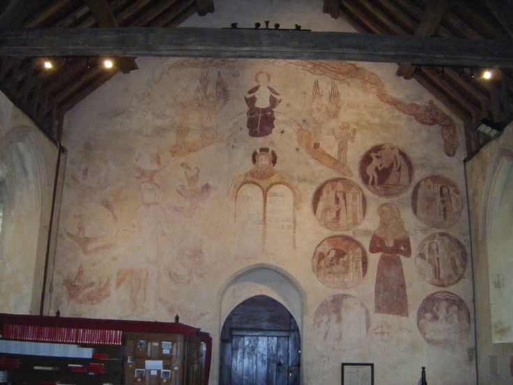 St George, Trotton, West Sussex. West wall