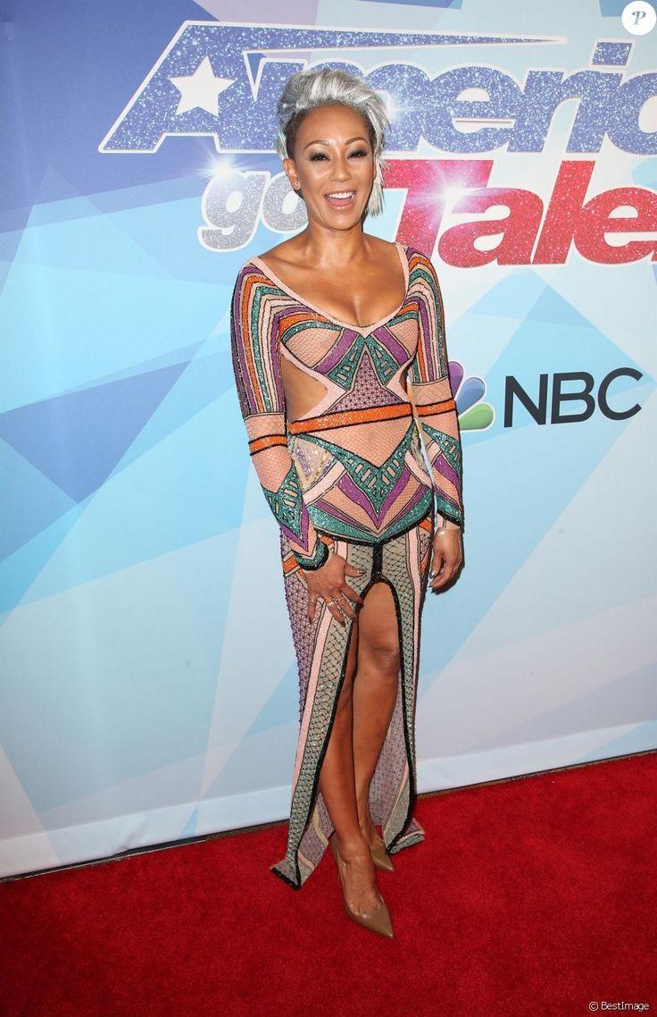 Mel B (Melanie Brown ) lors de la saison 12 de l'émission ''America's Got Talent'' au théâtre Dolby à Hollywood, le 22 août 2017.