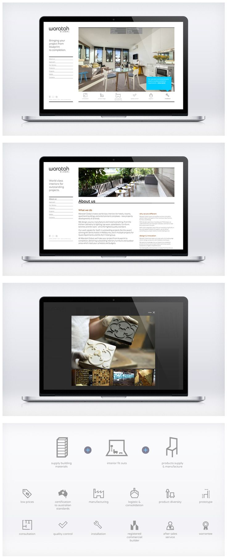 Waratah Global's Asian-built website wasn't cutting it in the hotels and resort interiors market. They needed a new digital look to project their build quality, range of services and decades' of expertise. Working closely with Waratah Global's executive team, Liquid devised a new digital strategy with engaging and informative content and responsive design to optimise user experience across all online channels.