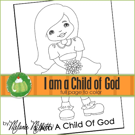 i am a child of god coloring page - i am a child of god printable coloring page primary