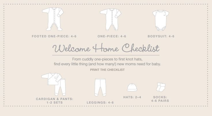 Baby essentials welcome home checklist from Baby Gap