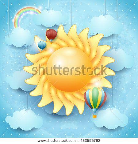 New! :) #summer #sun #balloon #holiday #vacation #day #sky #vector #vectorart  http://www.shutterstock.com/en/pic.mhtml?id=433555762