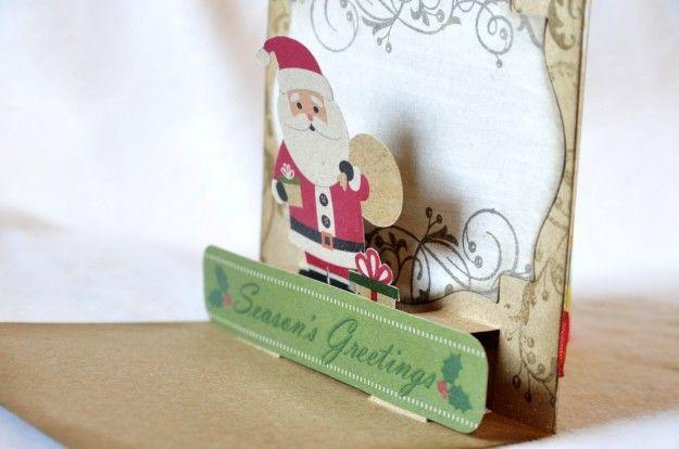 Biglietti Natale pop up fai da te