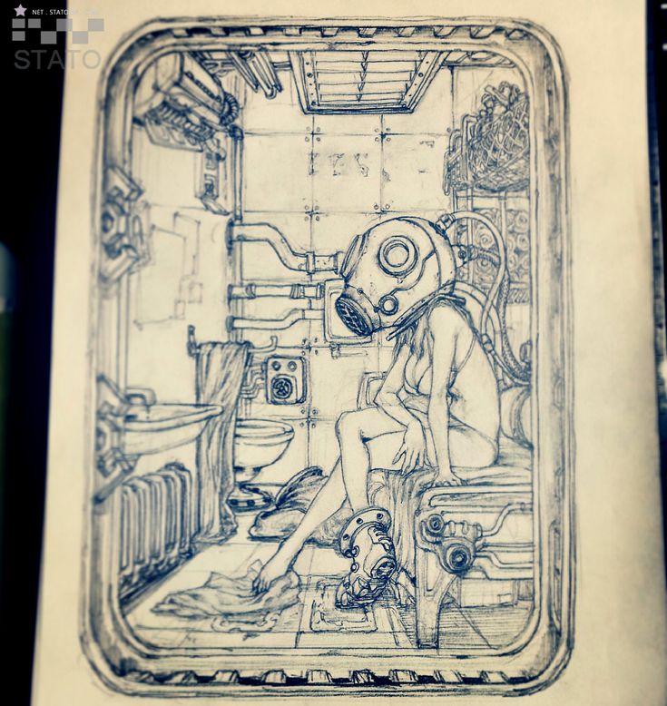 stato_drawing 0812, Stato Ozo on ArtStation at https://www.artstation.com/artwork/98QNq
