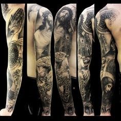 Religious Tattoo Sleeve. Beautiful.
